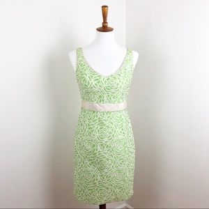 Maggy London Green Rosette Sleeveless Dress Size 4